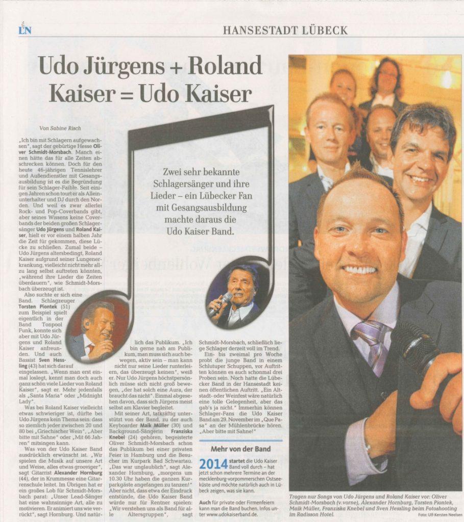 08.09.2013, Lübecker Nachrichten
